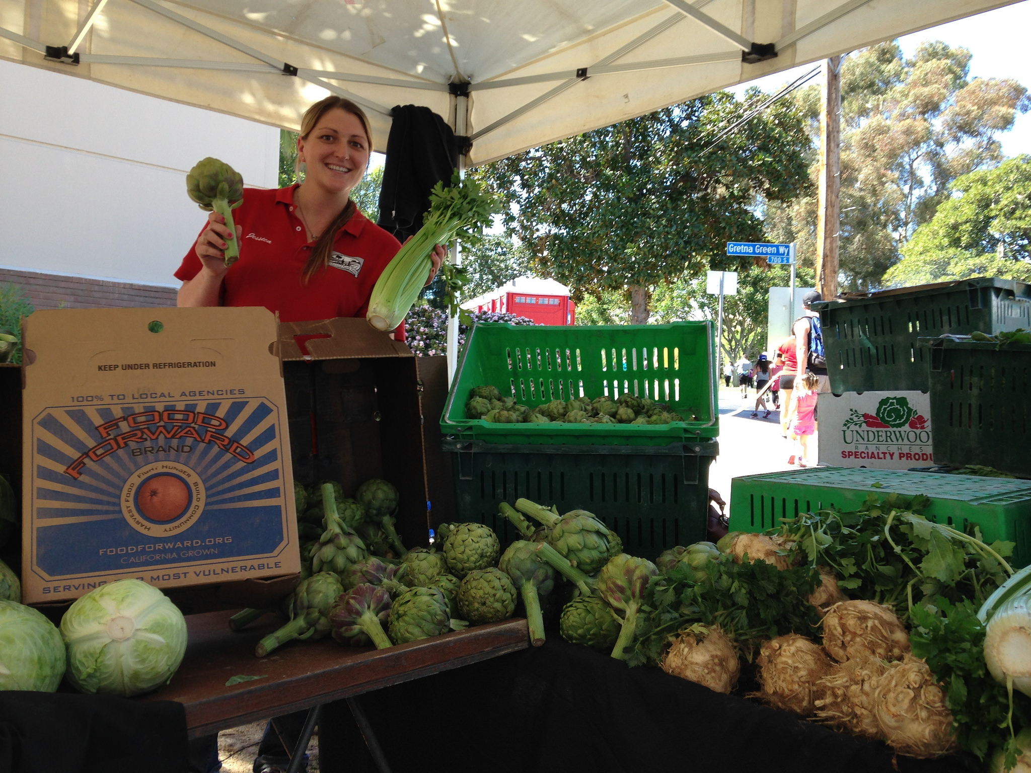 Underwood Farms at the Farmers Market