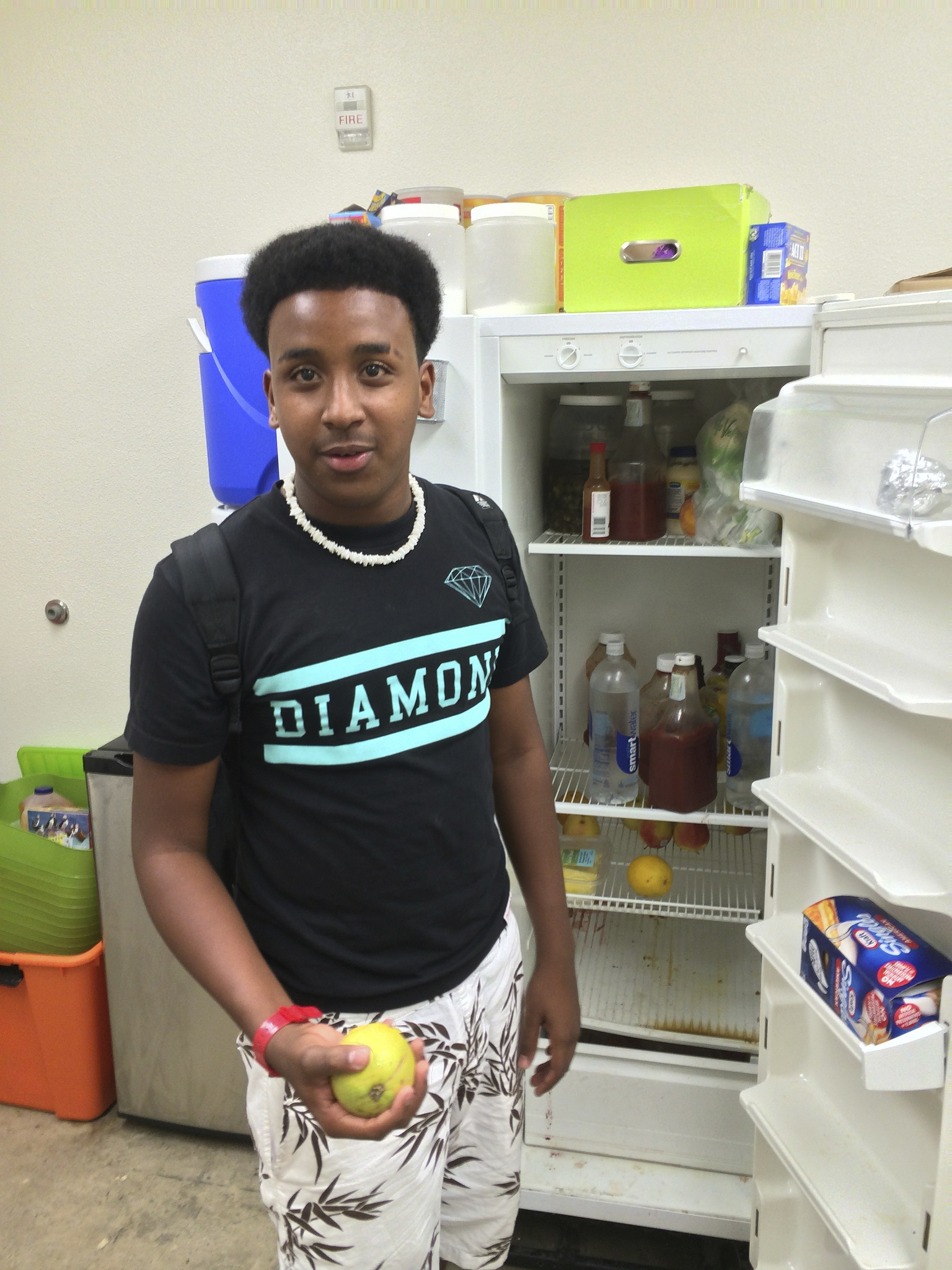 Dalon shows us the fridge