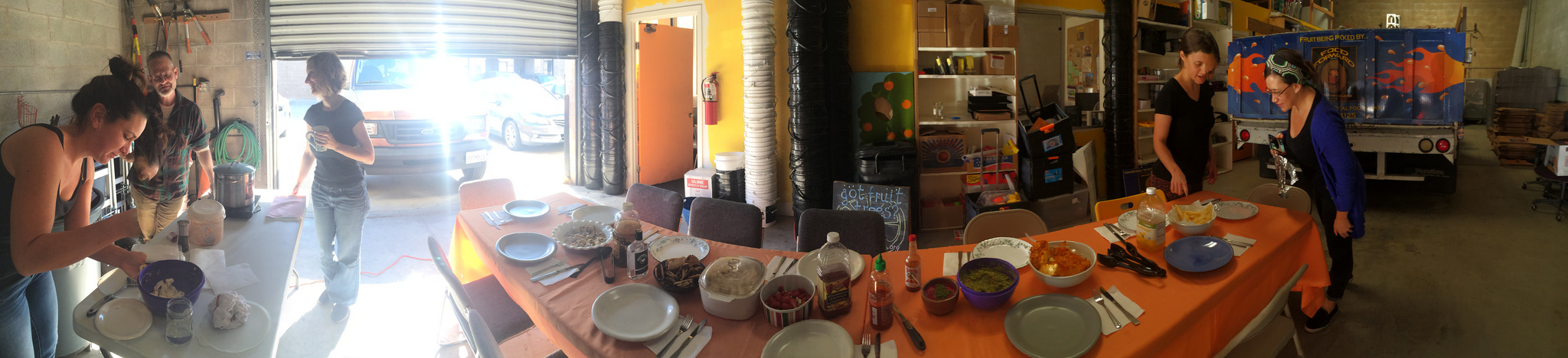 Lunch at the Fruit Cave!