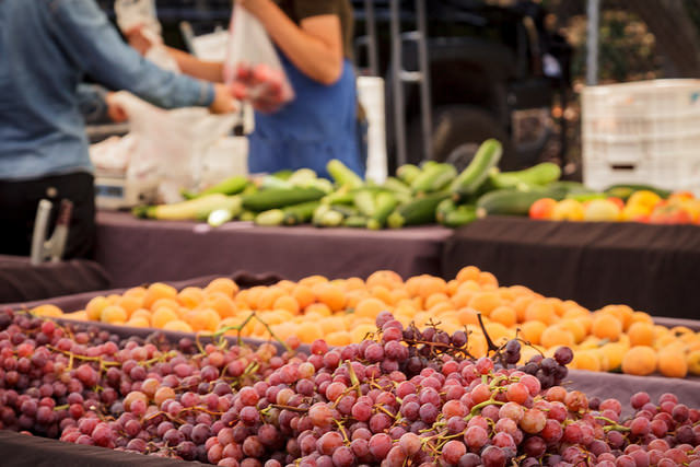 Variety of Produce at a Farmers Market