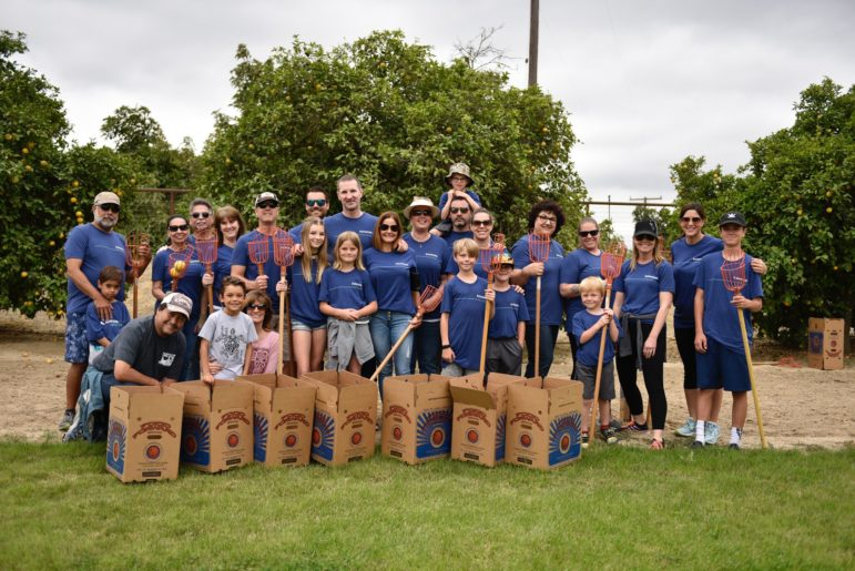 A Food Forward Private Pick group service event