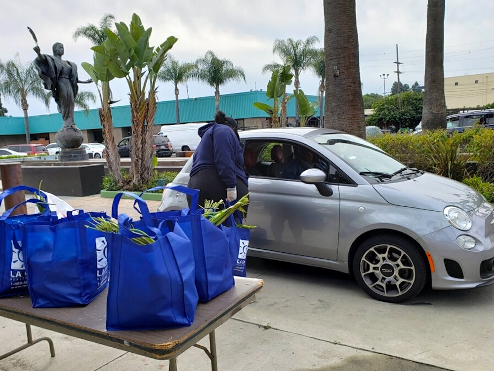 drive-through produce pick-up food distribution