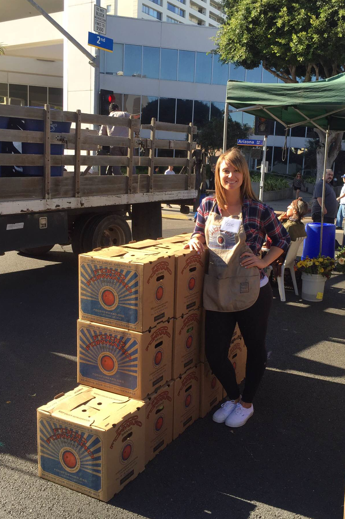 Kelsie Volunteering at the Santa Monica Farmers Market