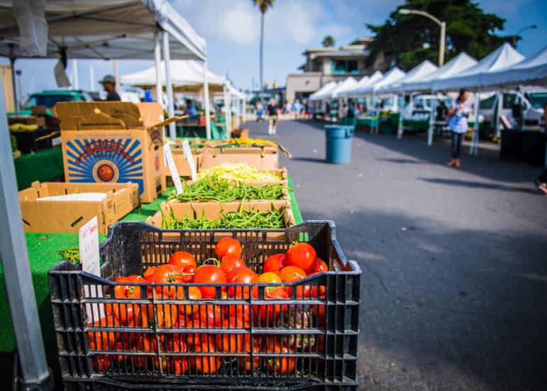 Produce varieties at the Oxnard Farmers Market