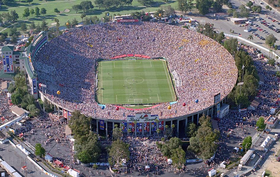 The Rose Bowl Stadium in Pasadena CA