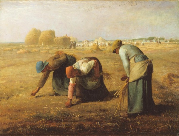 """""""The Gleaners"""" by Jean-François Millet depicts Gleaning"""