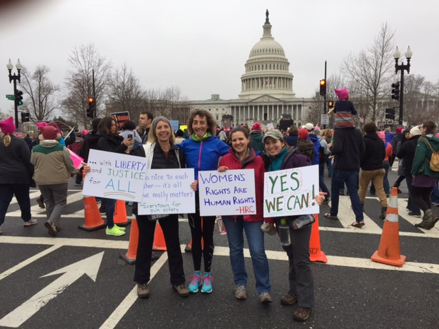Kathy at the Women's March